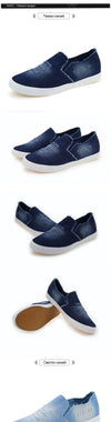 New Men's Shoes Breathable Slip on Denim Canvas Shoes Mans Footwear Casual Shoes Fashion Lovers Shoes Men's