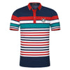 Striped Shirt Men's Slim Turn-down Collar Hombre Cotton Short Sleeve Polo Shirts For Men