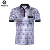 Men Clothing Plaid Slim Polo Shirts High Quality Cotton Breathable Contrast Color Fashion shirt Men Polo Hombre