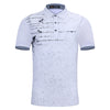 Home Slim Fit Clothing Polo Shirts Letter Print Polo Short Sleeve Polo Tee Shirt