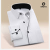 Men Dress Shirt Long Sleeve New Arrival Twill Solid Shirt Autumn Slim Clothes Casual Hombre