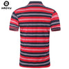 Shirts Fashion Summer Men Polo Shirt Fitness Short Sleeve Stripped Polo Home Men Shirt