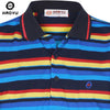 Striped Shirt Fashion Men Summer Short Sleeve Polo's Turn-down Collar Hombre Men's Casual