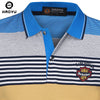Men's Polo Shirt Cotton Short Sleeves Argyle Logo Gradient Anti-Wrinkle Slim Famous