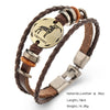 Bracelets Fashion Jewelry Leather Bracelets Men Casual Personality Vintage Punk Bangle Gift