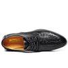 Crocodile Leather Lace Up Formal Oxford Shoes