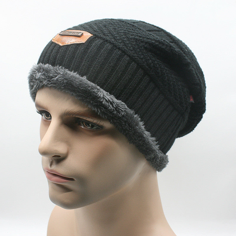 ede08eb7d Knit Men's Winter Hat Caps Skullies Bonnet Winter Hats For Men Women Fur  Warm Baggy Wool Knitted Hat