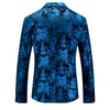 Fashion Men Velvet Blazer Jacket Designs Slim Fit Casual Gold Floral Blazer for Men