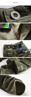 New Men Fashion Military Cargo Pants Slim Straight Fit Cotton Multi Color Camouflage Green Yellow
