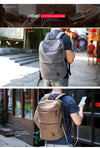 Unisex Canvas USB Design Backpack