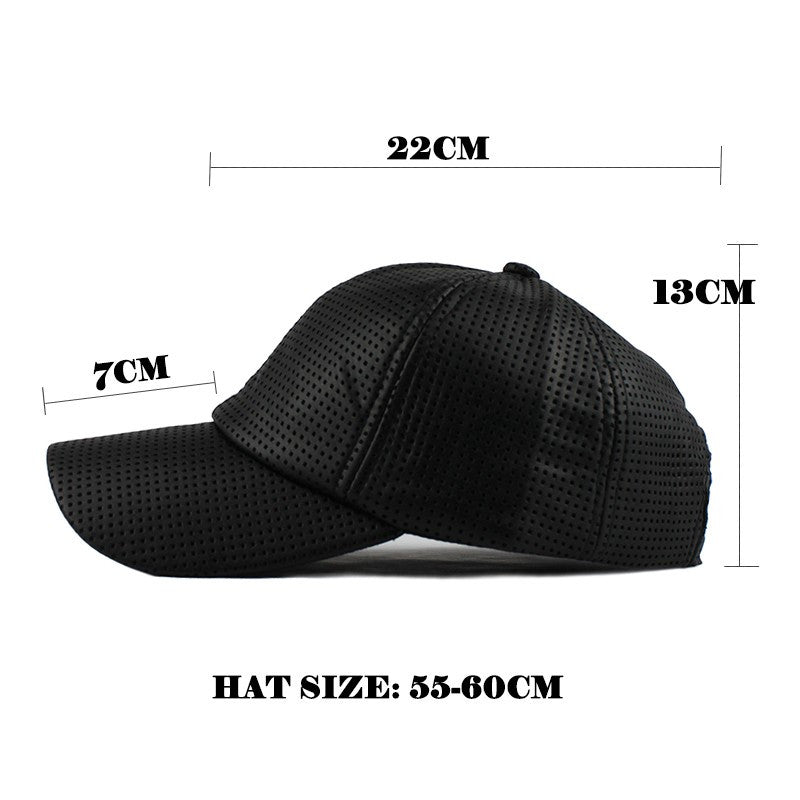 411cb1f2f21b96 PU Black Baseball Cap Women Fall Leather Cap Trucker Cap Fitted Snapback  Hats For Men Winter
