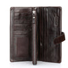 Genuine Crazy Horse Cowhide Leather Men Wallets Fashion Purse With Card Holder Vintage Long Wallet Clutch Wrist Bag