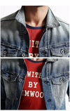 New Autumn Winter Denim jacket Men Coats  Fashion Causal 100% cotton