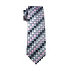 Gents Necktie Black Plaid 100% Silk Jacquard Tie Hanky Cufflinks Set Business Wedding Party Ties For Men