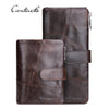 Genuine Leather Men Wallets Vintage Famous Design Card Holder Purse Bag Coin Pockets Long Clutch High Quality