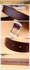 Belt for Men 100% Genuine Leather Strap Male Metal Pin Buckle Vintage Men belts Luxury