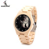 Game of Thrones Design Mens Watches Top Luxury Wooden Watches Maple Wood Band Quartz Watch With Maple Strap