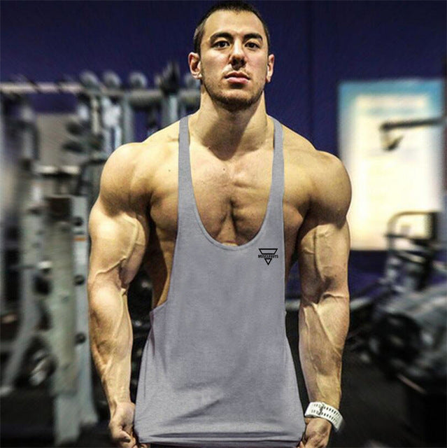 1fe7485ab1d701 Men Sleeveless Shirt Bodybuilding Stringers Tank Top Fitness Singlets power  Sporting Undershirt Animal gyms Clothing