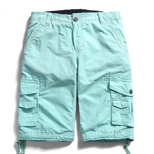 a31dd960903 Casual Cotton Loose Men Shorts Cargo Multi Pockets Summer Shorts ...