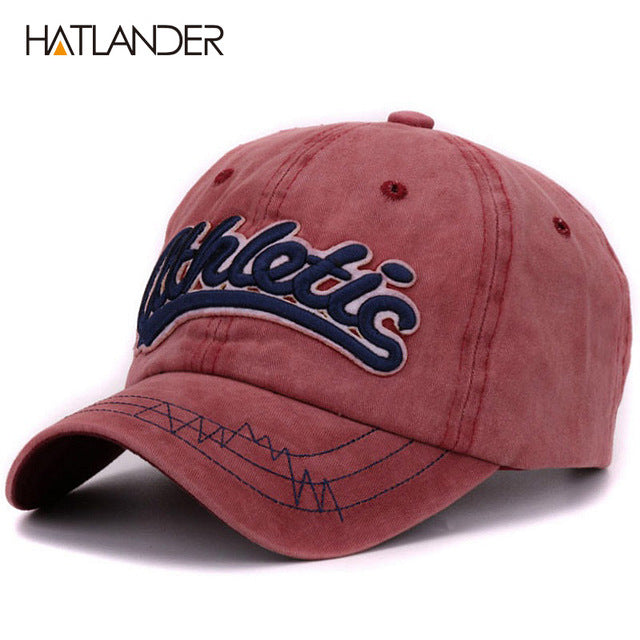 11b4444e6c8 Cotton washed baseball caps men casual sports hats women 3D embroidery  letter curved dad hat cap