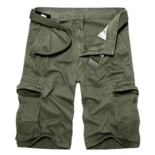3c660d8f697 Summer Cargo Shorts Male Casual Cotton Men Shorts - ThreadCreed