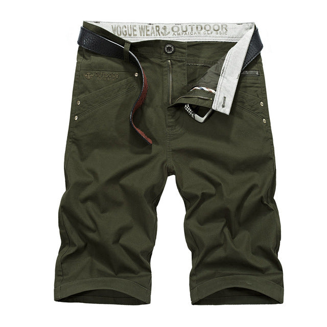 0a098c3ca63 New Fashion Summer Men Cargo Shorts Casual Cotton Solid Military Tactical Male  Shorts Beach Shorts