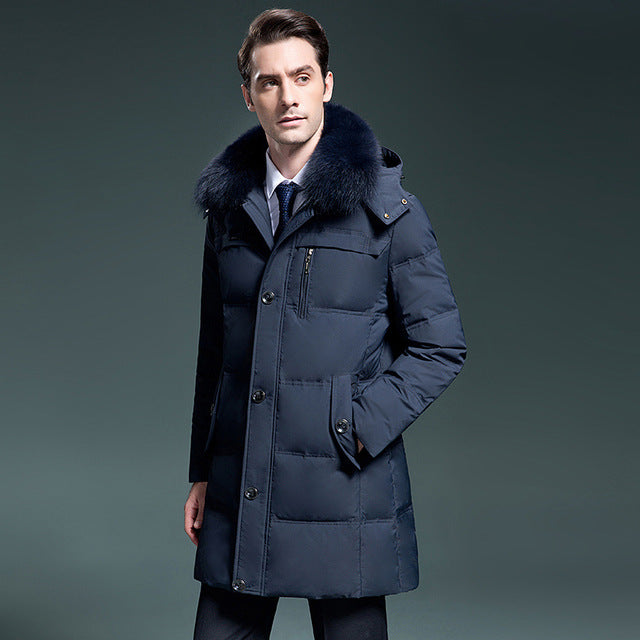 f54949c42e3d White Duck Down Jackets Quality Handsome Warm Long Fashion Business Winter  Men s Clothing Casual Coat Male