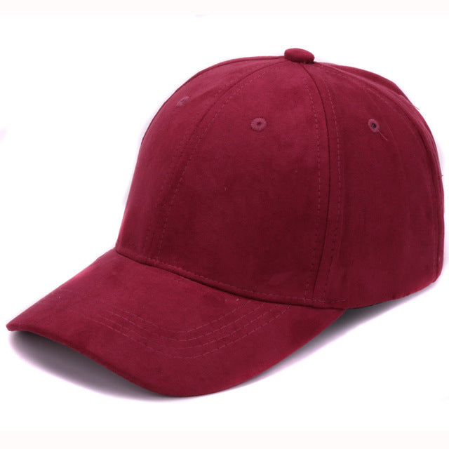 4ba2f4d7 Plain Suede baseball caps with no embroidered casual dad hat strap back  outdoor blank sport cap