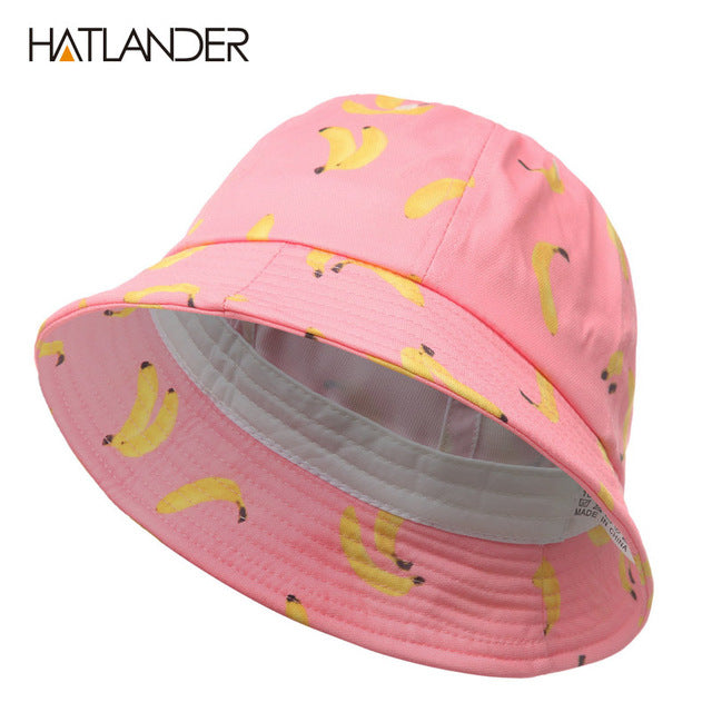 b5ee4ec869e7fa Women Banana bucket hat men panama hat unisex cotton bob caps girls boys  hip hop cool