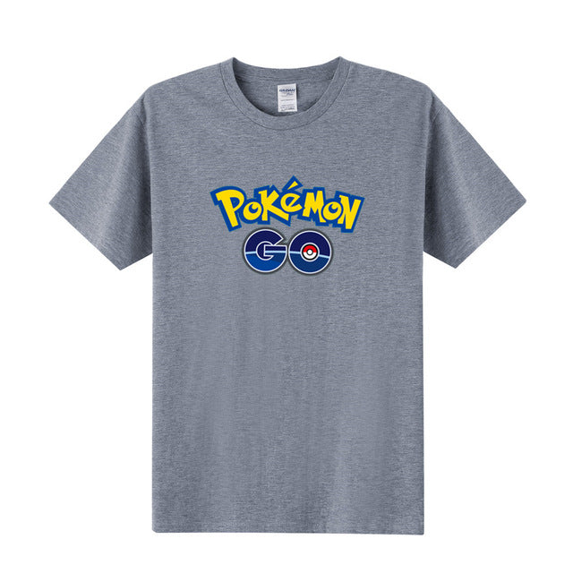 e351f677 Cartoon Pokemon Go T Shirt Men Cute Pocket Pikachu T-Shirts Boy Short  Sleeve Anime