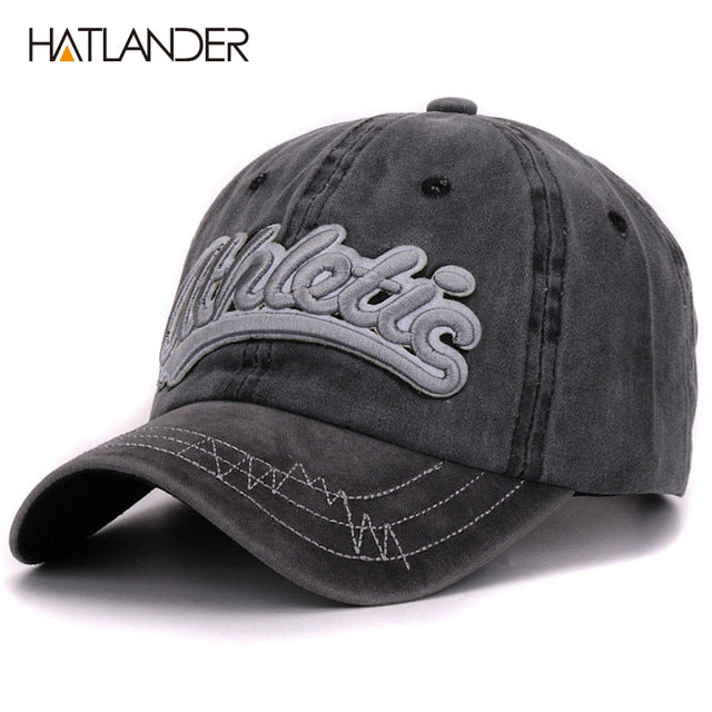 6dd41963347 Cotton washed baseball caps men casual sports hats women 3D embroidery  letter curved dad hat cap