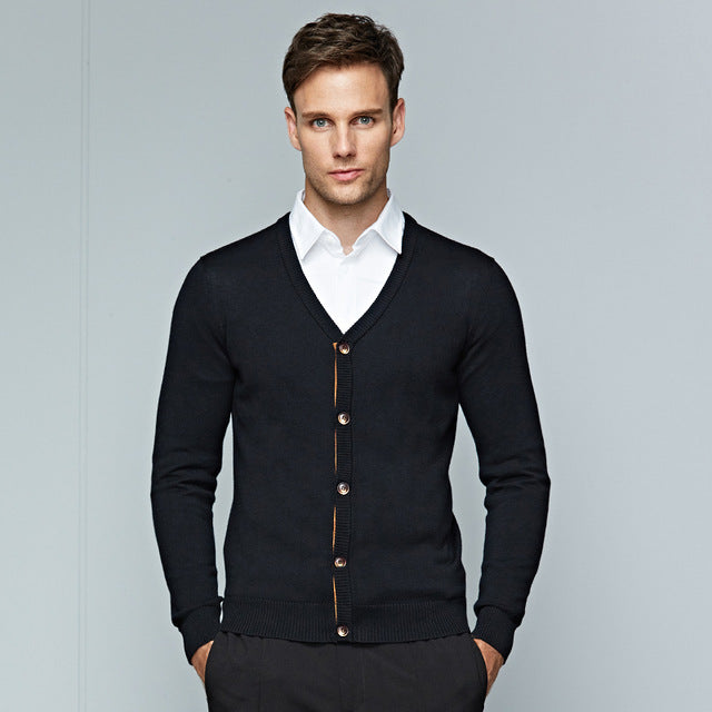 Winter Sweater Men for Clothing Long Sleeve Cardigans Men Business Casual  Knitting V,neck Sweaters