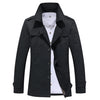 Autumn Long Trench Coat Slim Turn Down Collar