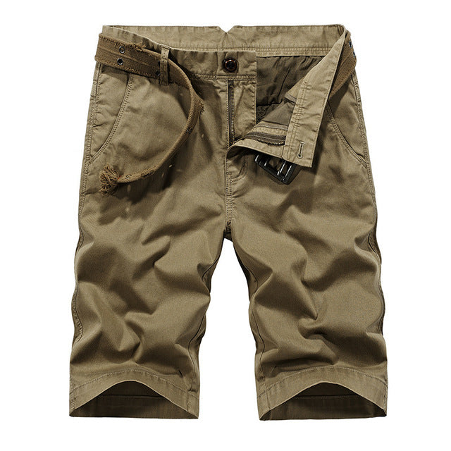 13e3bdbef26 Summer Casual Cotton Loose Men Cargo Shorts - ThreadCreed