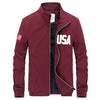 Autumn Casual Print Hombre Slim Stand Collar Baseball Jacket