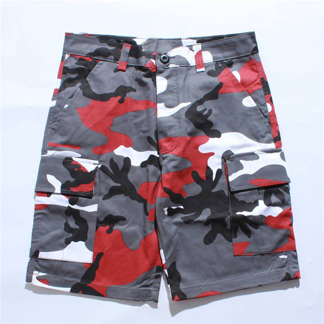 a1d1df1147e Cargo Shorts Men Summer Side Pockets Shorts Casual Short Joggers Male Hip  Hop Streetwear