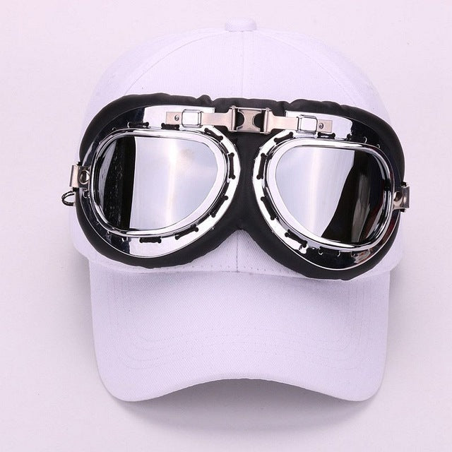a80af41615d Fancy cotton goggles baseball cap with polite glasses sports caps novelty  hat for men and women