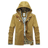 Autumn Casual Hooded  Hombres Thin Slim Jacket Men