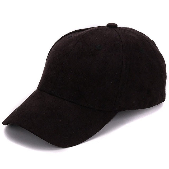 9a1c5932 Plain Suede baseball caps with no embroidered casual dad hat strap back  outdoor blank sport cap