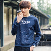 Autumn Casual Printed Sweatshirt Short O Neck