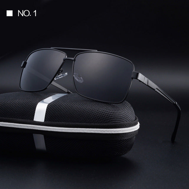 f7666bcab46 Eyewear Men Sunglasses Square Frame Driving Sun Glasses HD Polarized lens  Women UV400