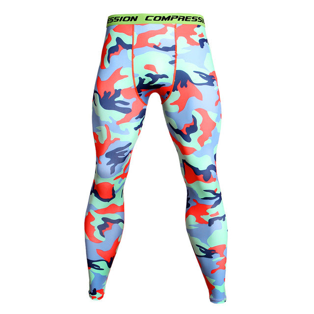 b14da0c720 New Camouflage Compression Pants Men Joggers Skinny Leggings Fitness Base  Layer Tights Men's Gyms Bodybuilding Pants