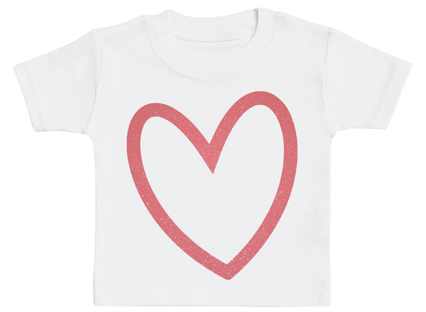Outline Heart - Baby T-Shirt
