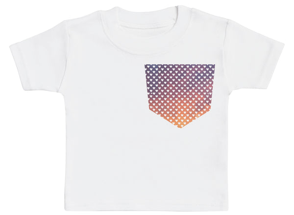 Coloured Dots Pocket Design - Baby T-Shirt