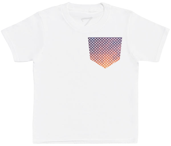 Coloured Dots Pocket Design- Kinder T-Shirt