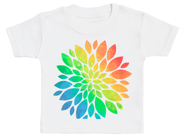 Rainbow Flower - Baby T-Shirt