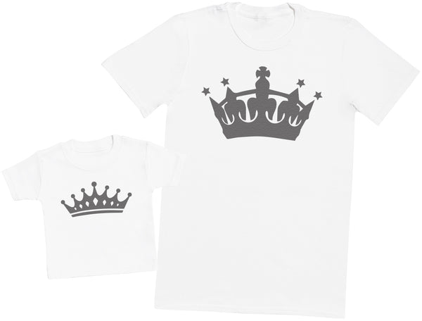 King And Prince - Passende Vater Baby Geschenkset Baby T Shirt