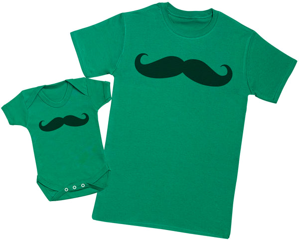 Baby And Daddy Moustache - Passende Vater Baby Geschenkset Baby Body