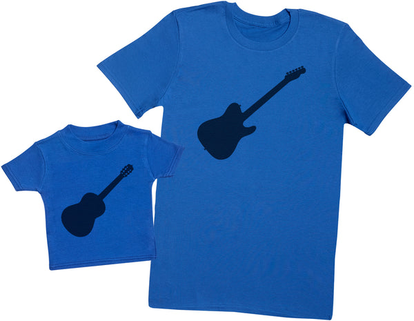 Electric And Acoustic Guitars - Passende Vater Baby Geschenkset Baby T Shirt