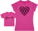 Locket And Key - Damen T-Shirt & Baby T-Shirt